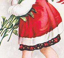Vintage Christmas Greeting Card Sticker