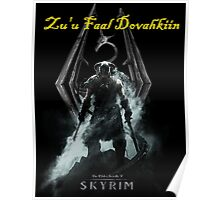 Skyrim: Zu'u Faal Dovahkiin (I am The Dragonborn) Poster