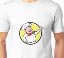 French Chef Welcome Greeting Circle Cartoon Unisex T-Shirt