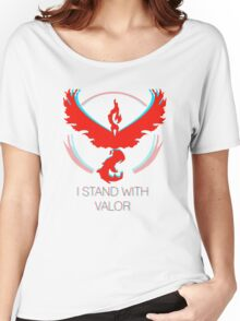 Team Valor - Stand With Valor Women's Relaxed Fit T-Shirt
