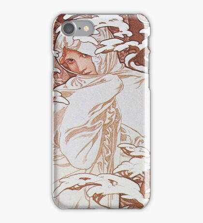 Alphonse Mucha - Hiverwinter iPhone Case/Skin
