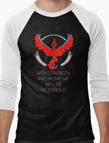 Team Valor - With Strength and Heart Men's Baseball ¾ T-Shirt