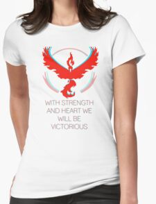 Team Valor - With Strength and Heart Womens Fitted T-Shirt