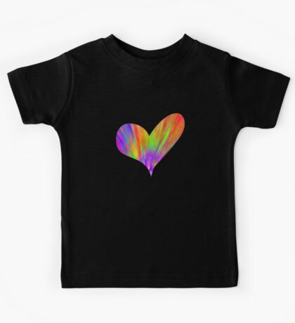 Cool Tie-Dye Heart Kids Tee