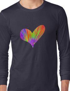 Cool Tie-Dye Heart Long Sleeve T-Shirt