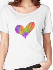 Cool Tie-Dye Heart Women's Relaxed Fit T-Shirt