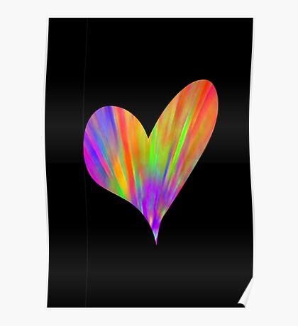 Cool Tie-Dye Heart Poster
