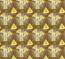 Bill Cipher Everywhere - pattern by ellycolor