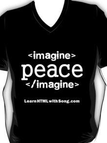 """Imagine Peace"" HTML T-Shirt"