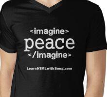 """Imagine Peace"" HTML Mens V-Neck T-Shirt"