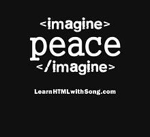 """Imagine Peace"" HTML Mens V-Neck T-Shirt"