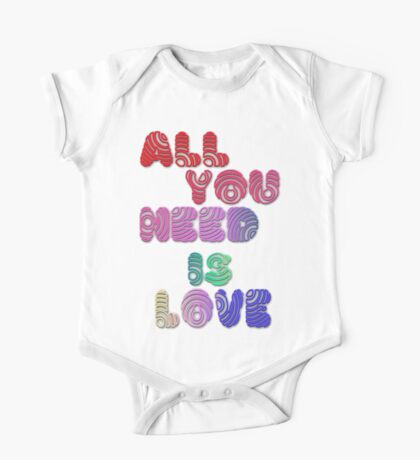 All You Need Is Love One Piece - Short Sleeve