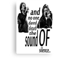Simon & Garfunkel-The Sound Of Silence Canvas Print