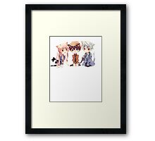 chibi future diary with white text  Framed Print