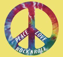 Peace, Love, Rock N' Roll Baby Tee
