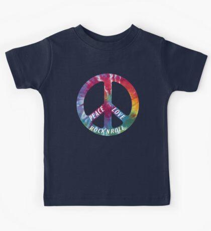 Peace, Love, Rock N' Roll Kids Tee