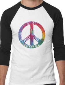 Peace, Love, Rock N' Roll Men's Baseball ¾ T-Shirt