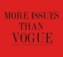 more issues than vogue One Piece - Short Sleeve