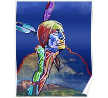 Chief Wolf Robe Poster