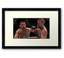 Nate Diaz vs Conor McGregor Poster Framed Print