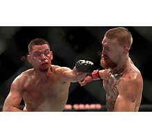 Nate Diaz vs Conor McGregor Poster Photographic Print
