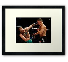 Conor McGregor vs. Nate Diaz UFC 202 Framed Print