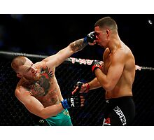 Conor McGregor vs. Nate Diaz UFC 202 Photographic Print