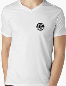 Teal Planet Mens V-Neck T-Shirt