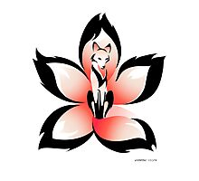 Hana (Flower) Kitsune Photographic Print