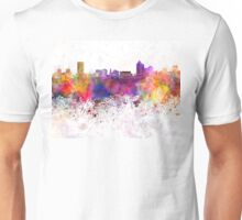 New Haven skyline in watercolor background Unisex T-Shirt