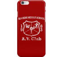 Hawkins Middle School AV Club - White Weathered iPhone Case/Skin