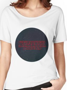 Stranger Things Logo Women's Relaxed Fit T-Shirt