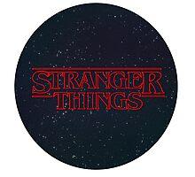 Stranger Things Logo Photographic Print