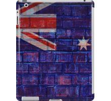 Australia flag on vintage brick wall iPad Case/Skin