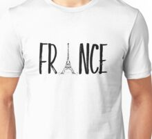 FRANCE Typografie  Unisex T-Shirt
