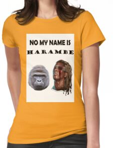 Harambe and Young Thug Womens Fitted T-Shirt