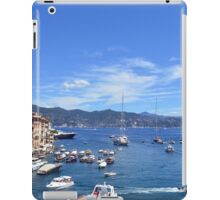 6 August 2016. Photography of the beautiful Portofino fishing village in Italy. View on small bay and colorful houses at town of Portofino in Liguria, Italy. iPad Case/Skin