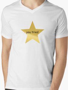 you tried gold star Mens V-Neck T-Shirt