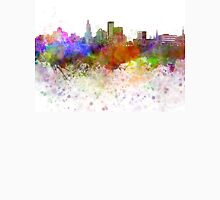 Providence skyline in watercolor background Unisex T-Shirt