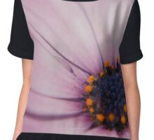 Light Purple Osteospermum (daisy) flower Chiffon Top