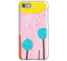 Red and Pink Happy Abstract Landscape iPhone Case/Skin
