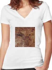 Lonely world Women's Fitted V-Neck T-Shirt