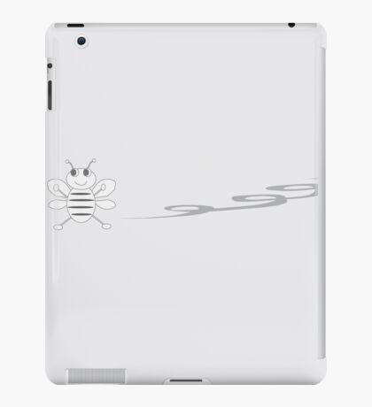 Bee grey iPad Case/Skin