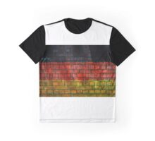 German flag painted on old brick wall Graphic T-Shirt