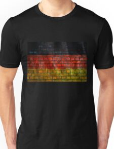 German flag painted on old brick wall Unisex T-Shirt
