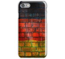 German flag painted on old brick wall iPhone Case/Skin