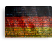 German flag painted on old brick wall Metal Print
