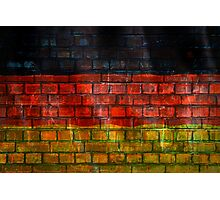 German flag painted on old brick wall Photographic Print