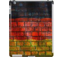 German flag painted on old brick wall iPad Case/Skin