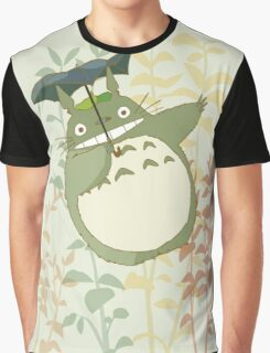 totoro in the flowers and trees Graphic T-Shirt